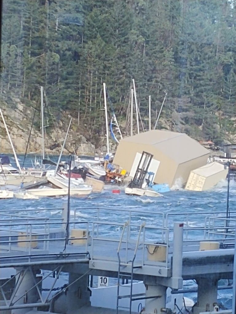 Wild weather wreaks havoc in Horseshoe Bay